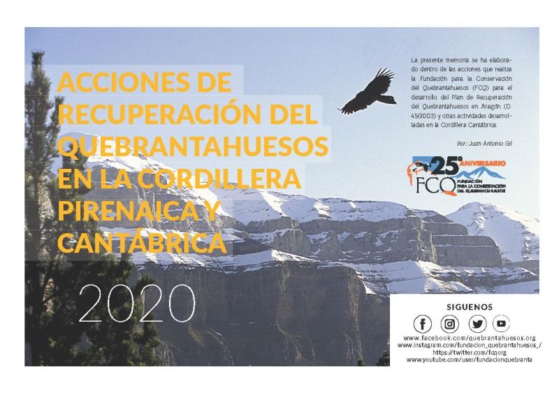 Programa de acciones de conservación del Quebrantahuesos cordillera pirenaica y cantabrica